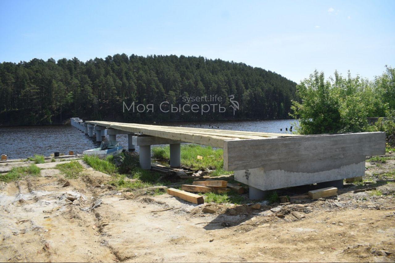 Строительство пешеходного моста в поселке Луч