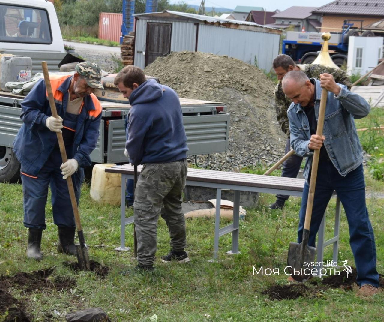 Ежегодные работы в поселке Двуреченск