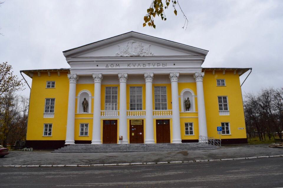 Ремонт фасада Дома культуры в Двуреченске