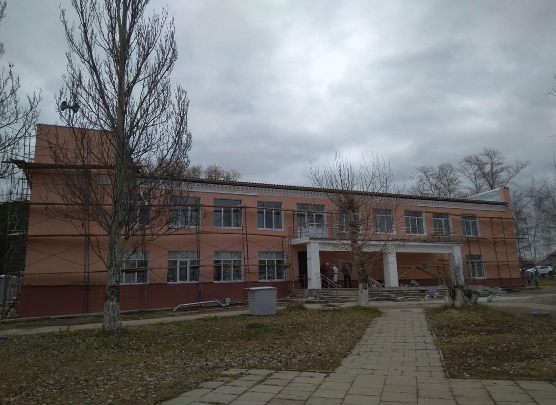 Капитальный ремонт Дома культуры в Октябрьском