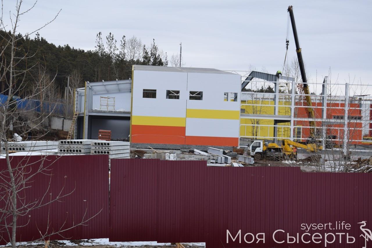 Строительство ледового дворца в Сысерти