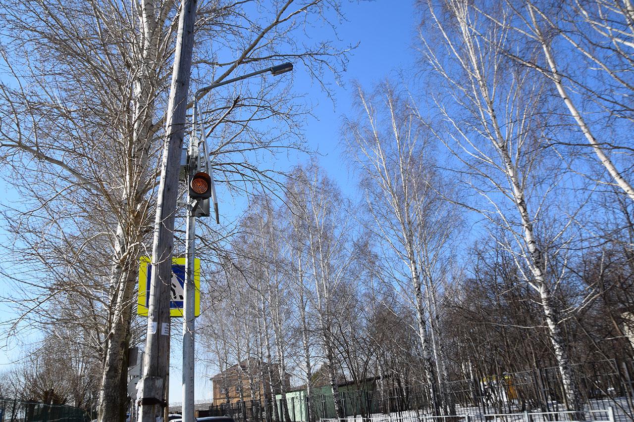 Установка светофоров в Патрушах в 2018 году