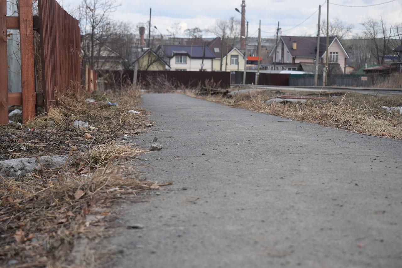 Ремонт тротуара по переулку Сосновый в Бобровском