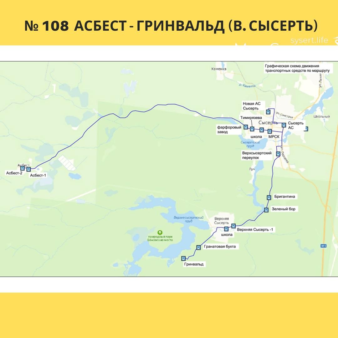 Организация транспортного сообщения Асбест — Гринвальд