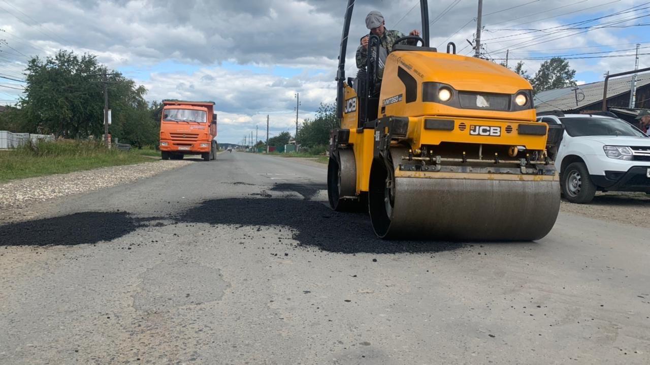 Ремонт дорог в Октябрьской администрации