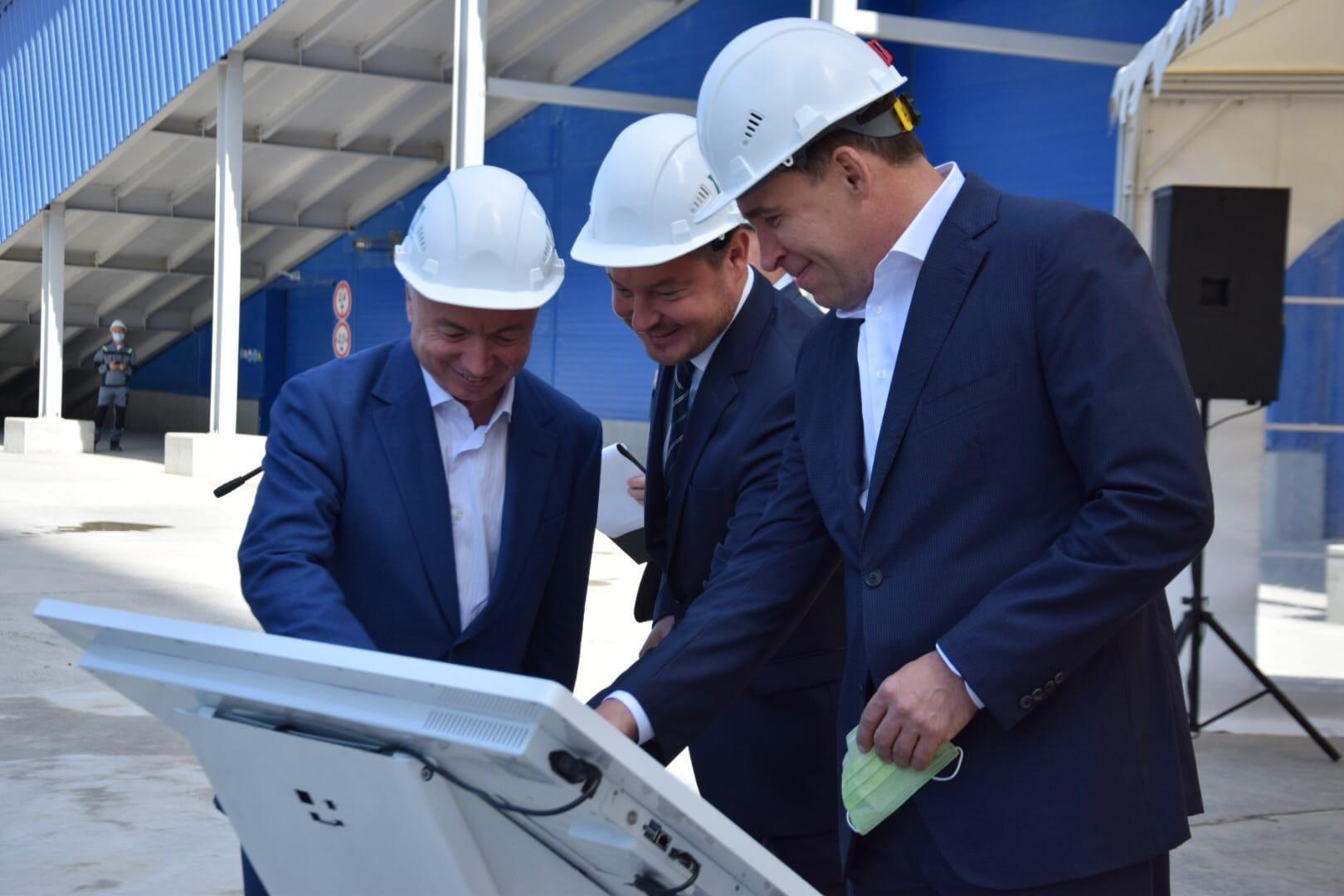 На новый цементный завод под Сысертью приехал губернатор Свердловской области