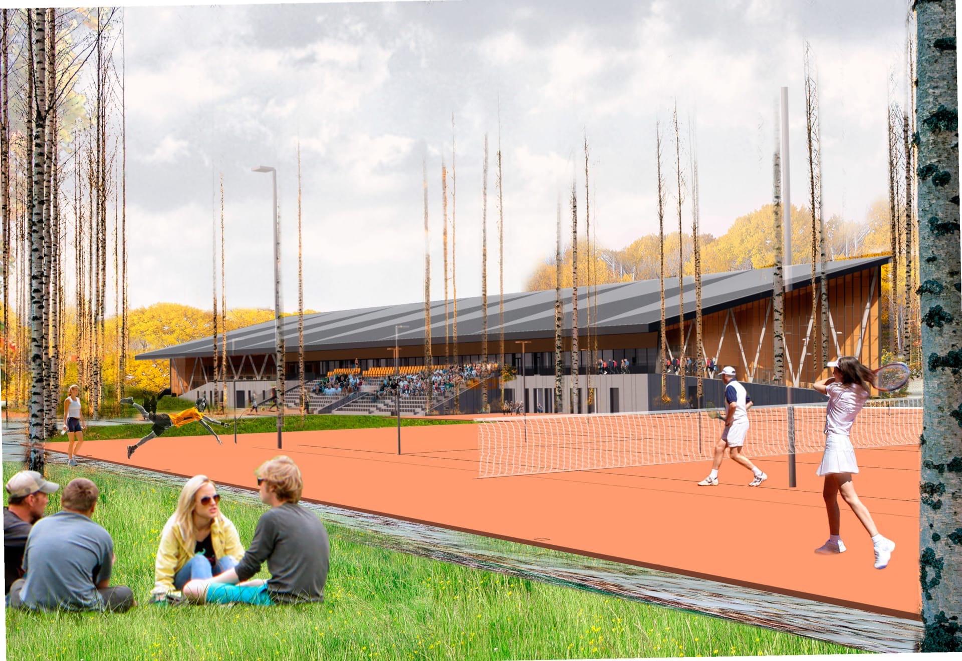 Проект создания Уральского теннисного центра в Кашино